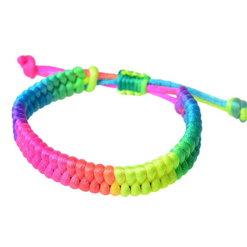 1PCS Black Red Tibetan Buddhist Good Lucky Charm Tibetan Bracelets & Bangles Jewelry For Women Men Handmade Knots Rope Bracelet