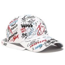 2019 new graffiti men and women baseball cap street hip hop unisex High Visors Parkour Rainproof Long hat