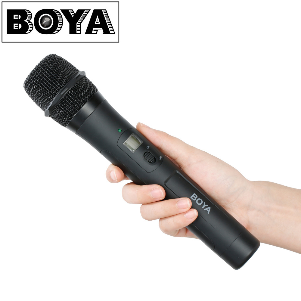 BOYA BY-WHM8 Microphone UHF transmission with UHF 48-channel for Use with BY-WM8 /BY-WM6 Receiver Wireless Handheld Mic System boya by whm8 professional 48 uhf microphone dual channels wireless handheld mic system lcd display for karaoke party liveshow