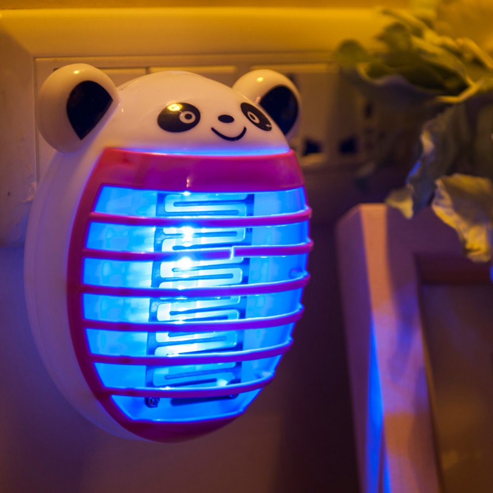 Cute Mini Electronic Mosquito Killer Lamp Fly Bug Insect Trap Killer Zapper US/EU Plug Anti Mosquito Repellent Home Accessory