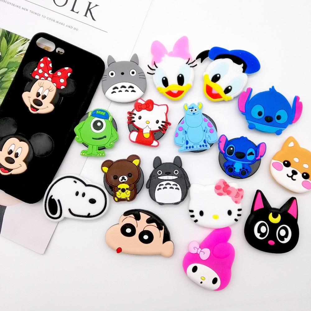 Wholesale Socket Universal Mobile Phone Stretch Bracket Cartoon Air Bag Phone Expanding Phone Stand Finger Car Phone Holder