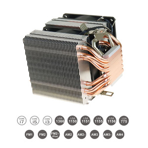 Image 4 - 2/4/6 Heatpipes CPU Cooler Fan For AMD Intel 775 1150 1151 1155 1156 CPU Radiator 90mm LED Two Fan 3pin Cooling CPU Fan PC Quiet