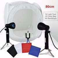 80x80x80CM Portable Photo Softbox Folding Studio Light Room Cube Tent Shooting Light box Photo Backdrops with 4 Backdrops 1.11Kg