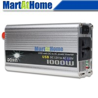 Free Shipping 1000W Auto Truck Boat Power Inverter 12V DC To 110V AC USB 10199 CF