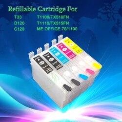 INKWAY 5C kartridż na tusz do ponownego napełniania dla C120  T0681 T0681 T0692 T0693 T0694
