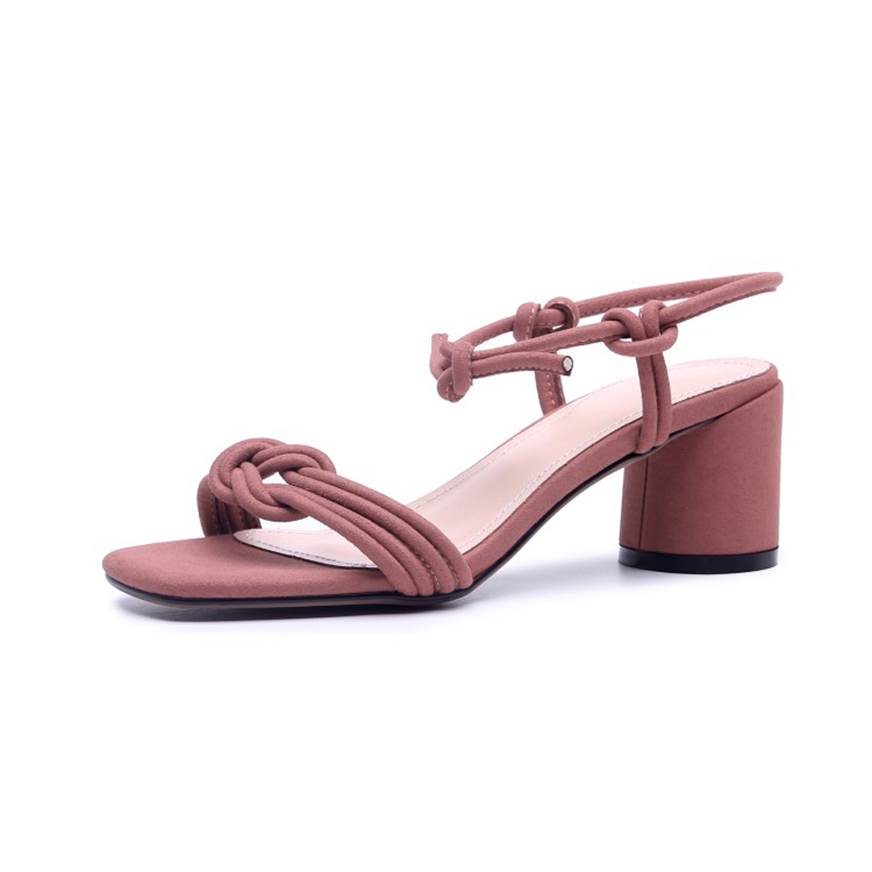 6f364ceee59a ... shoes high pink woman sandal heel feminina comfortable summer women  round tied concise heel heel Knsvvli ...