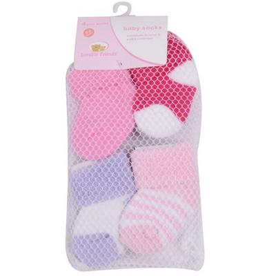 4 Pairslot Baby Newborn Socks 0-3 Months Baby Girl and Boy Cotton Warm Winter Socks for Children (1)