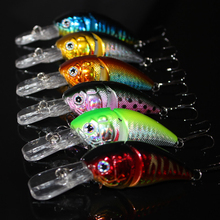 14G 85MM Fishing Lures Minnow 2 Jointed rock Crank Bait Crankbait Bass Treble Hook Swing lure baits wobblers pesca Lifelike