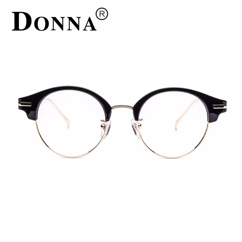 f1e74bf8147bdd Donna Classic Retro Clear Lens Nerd Frames Bril Mode merk designer Mannen  Vrouwen Brillen Vintage Half Metalen Eyewear DN16 in Donna Classic Retro  Clear ...