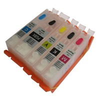 For CANON PGI 470PGBK CLI 471 BK C M Y Refillable Ink Cartridge With Permanent Chip