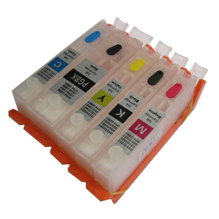 PGI-470 PGBK 470 471 CLI-471 refillable ink cartridge refill permanent chip For canon PIXMA MG6840 MG5740 TS5040 TS6040 printer