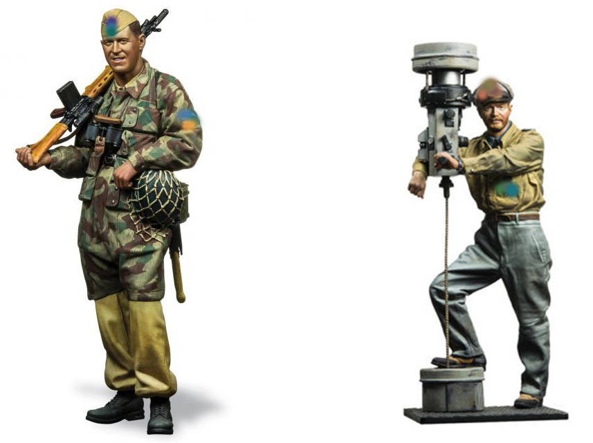 1 16 U boat captain AND GK soldier 120mm INCLUDE 2 toy Resin Model Miniature resin