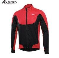 ARSUXEO 사이클링 자켓 겨울 써멀 워밍 업 플리스 MTB 자전거 자켓 라이트 웨이트 방풍 방수 사이클링 코트