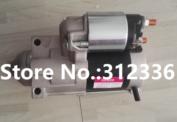 Fast Shipping 12V starting motor DDWD9 228000-7860 diesel engine starter motor a suit for chinese brand fast shipping starting motor 12v qd138g diesel engine starter motor a suit for chinese brand