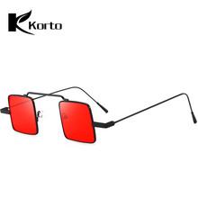 90S Sunglasses Square Small Retro 80S Steampunk Funny Sun Glasses Vintage Red Punk Shades For Women