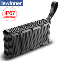 Lewinner Waterproof Mini Portable Speaker Stereo Wireless Bluetooth Speaker with Ultra Bass HiFi Sound loudspeaker for Outdoor