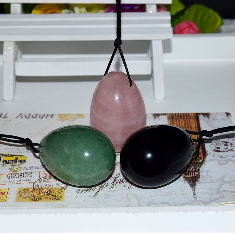 Ronny Zhu Wenwu Drilled Yoni Ovo 45x30mm Large Jade Yoni Egg for Kegel Exercise Muscle Tightening Vaginal Jade Egg Ben Wa Ball chinese green jade drilled yoni egg for kegel with drilled hole on top