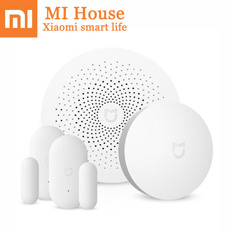 Xiaomi Smart Home Temperature Control Kit Mijia Household Security Set APP Control Door Window Sensor Human Body Sensor Gift комплект умный дом xiaomi smart home security kit