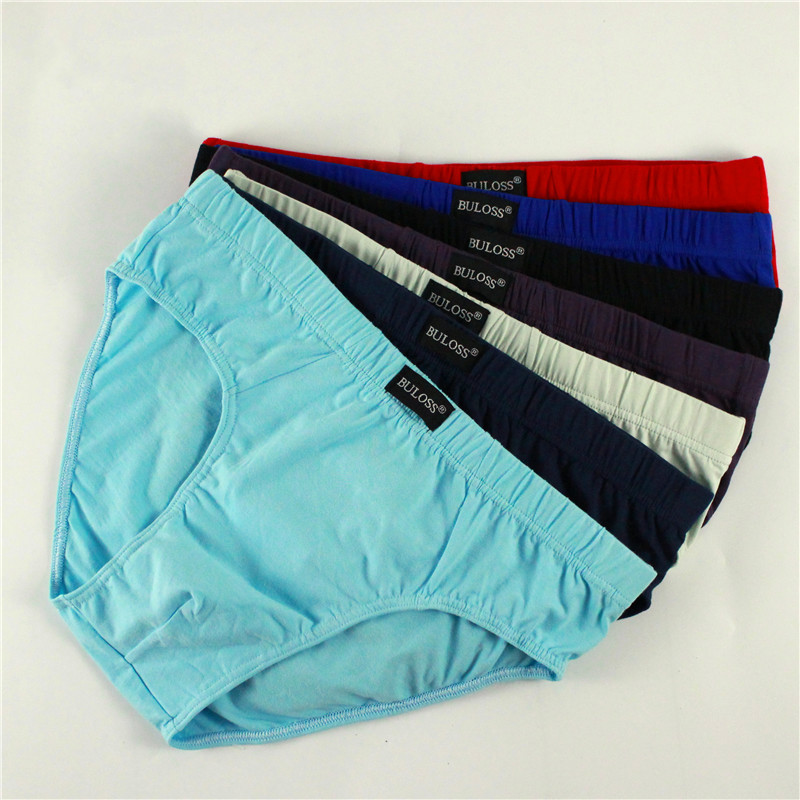 100% Cotton Briefs Mens Comfortable Underpants Man Underwear M/L/XL/2XL/3XL/4XL/5XL 4pcs/lot Free Shipping & Drop Shipping
