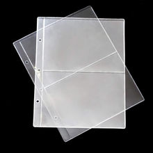 20 szt. 2/3/4 linie/strona PVC wewnątrz strona banknotów kolekcja papierowe pieniądze album na monety luźne wkładki z uchwytami na papierowe pieniądze