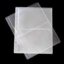 Album en PVC, collection de pages de billets de banque, 2/3/4 lignes/pages, collection de pièces de monnaie en papier, porte monnaie feuilles mobiles