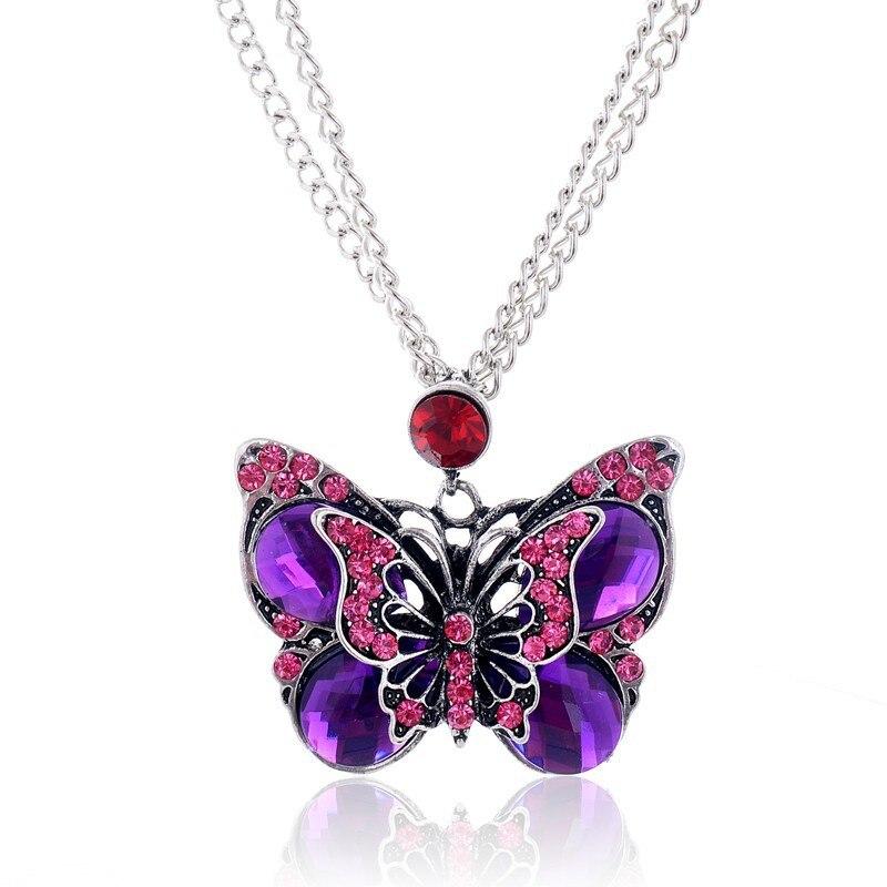 Vintage Butterfly Necklace 35