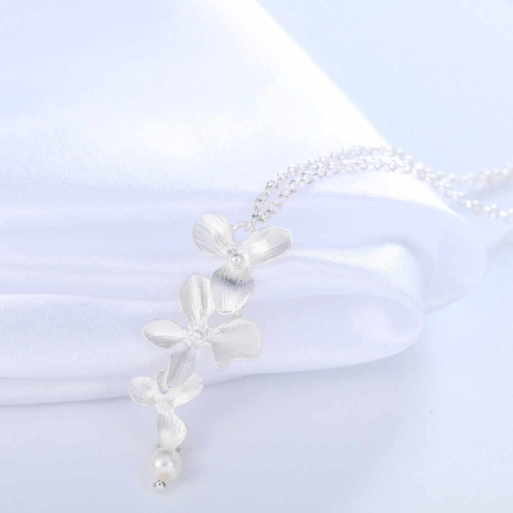 Cxwind moda orchidea wisiorek kwiat kwiat boho naszyjnik z amuletem biżuteria dla kobiet Party akcesoria do sukni prezent