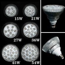 E27 LED Grow Light Bulb Full spectrum 15W 21W 27W 36W 45W 54W Led Plant Lamp for Greenhouse Garden Flower Plant Hydroponics