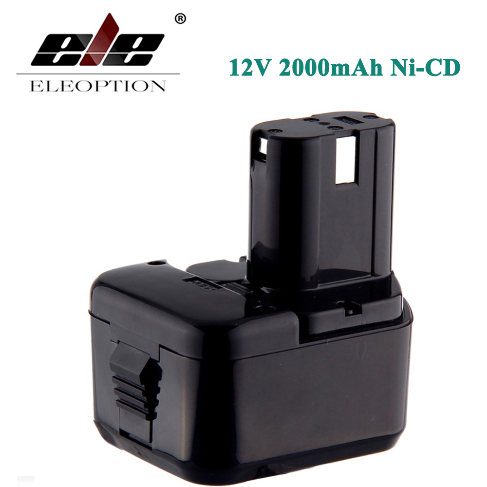 ELEOPTION High Quality 2000mAh 12V 2.0Ah Battery for Hitachi EB1220BL EB1214S EB1212S WR12DMR CD4D DH15DV C5D аккумулятор для hitachi bcc1215 eb1214l eb1214s eb1220bl eb1224 2000mah cameronsino