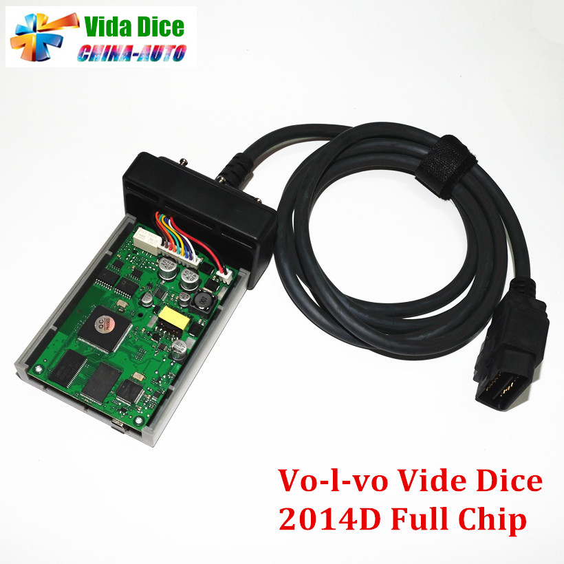 ФОТО Newest For Vo-l-vo Vida Dice 2014D Newest Version Professional Car Diagnostic Tool Dice Pro Full Chip Green Board