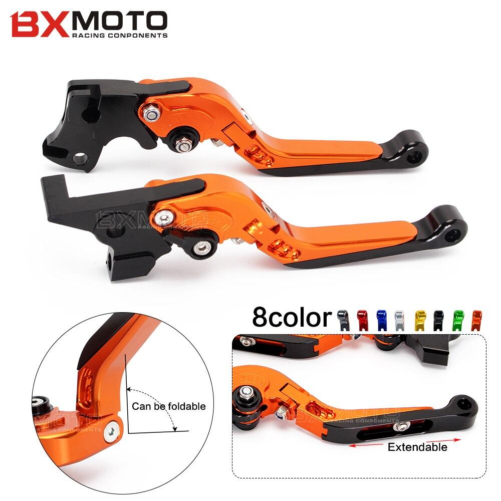 Motorcycle parts Adjustable Foldable Lengthening Motorbike Brakes Clutch Levers for KTM Duke 125 200 390 orange motorbike foldable