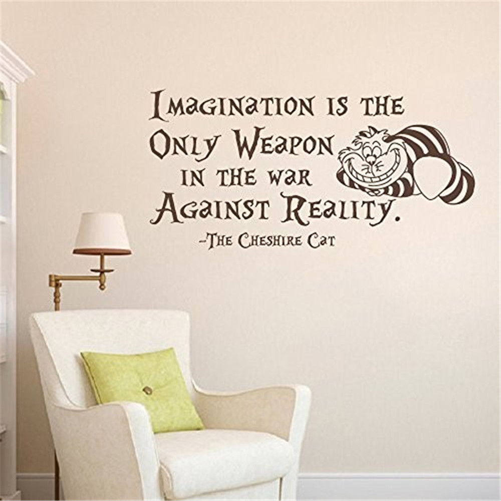 Wall Decal Decor Alice In Wonderland Wall Decal Quote Vinyl Stickers font b Home b font