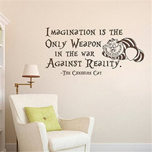 Wall Decal Decor Alice In Wonderland Wall Decal Quote Vinyl Stickers Home Decor Nursery Art Bedroom Dorm Wallpapers
