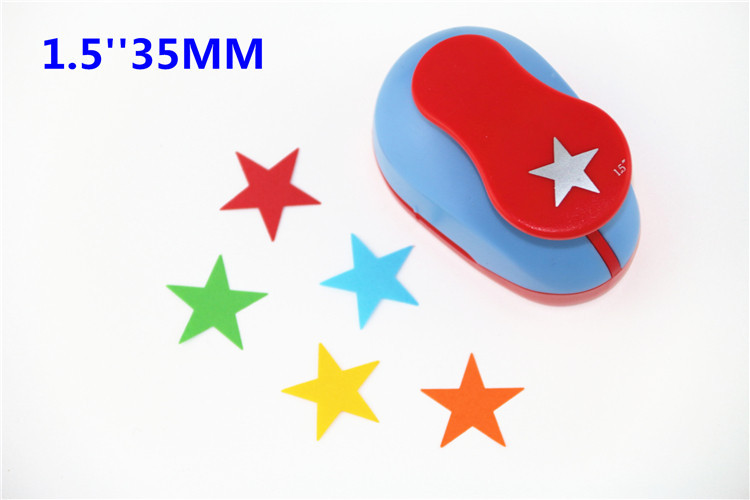 купить Angel 38mm paper cutter scrapbook Embossing device kid child craft tool diy hole punch kraft punches cortador de papel S2934-4 по цене 601.78 рублей