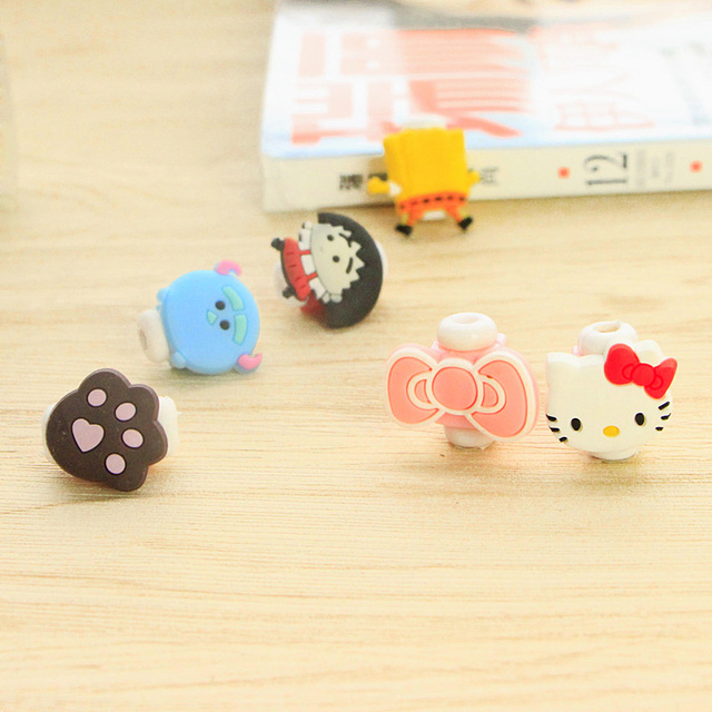 Cartoon cable protector for iphone cable Winder Cover Organizer Case  For USB Charging
