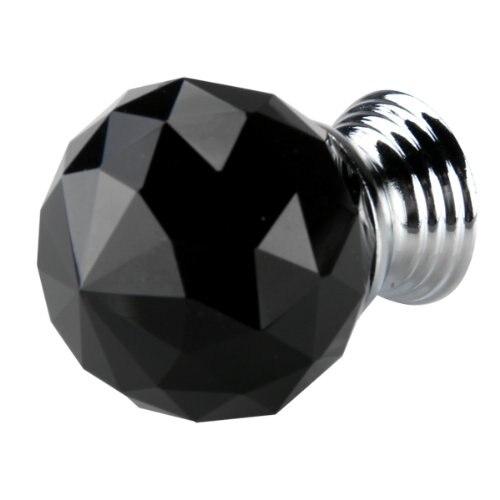KSOL Hot Sale Black Crystal Glass Cabinet Drawer Door