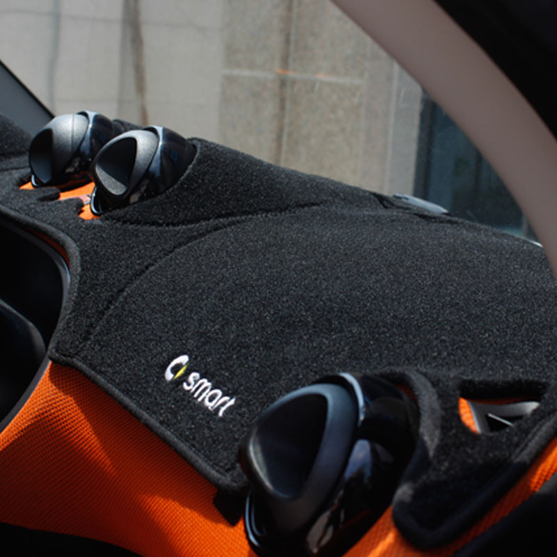 2015 Smart Fortwo Forfour couverture de tableau de bord avant de voiture pare-soleil tapis tapis de protection Console centrale Anti-éblouissement tapis de voiture - 2