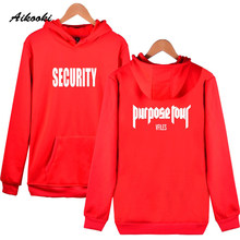 Aikooki Coat Justin Bieber SECURTITY Hoodies Wenter Worm Fashion Men Women Hooded Sweatshirt Couples Hoodies Street Wear Clothes(China)