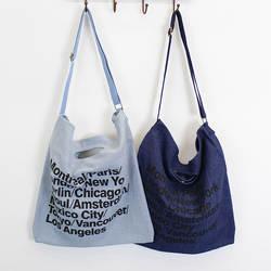 Письмо печати Сумки-холсты Корейская версия большой Ёмкость Книги по искусству Вентилятор сумка Портативный ковбой сумка