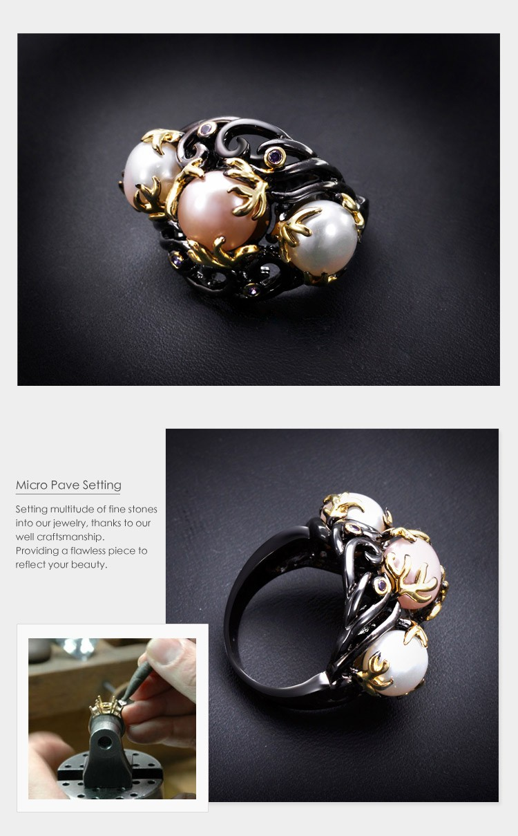 Natural Freshwater Pearl Ring