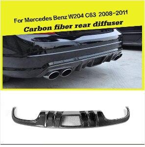 Задний бампер диффузор спойлер для Mercedes-Benz C Class W204 C63 AMG 2009-2011 углеродное волокно/FRP автомобиль-Стайлинг