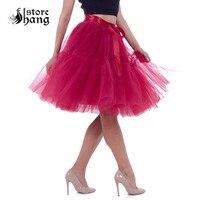 Women's 1950s Vintage 5 Layered Tutu Tulle Skirt Knee Length Petticoat Ballet Dance Skirt Boutique Tutu Bridesmaid Pettiskirt
