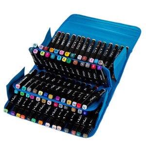 Image 2 - 80 Gaten Premium Kwaliteit Oxford Etui Markers Tas Draagbare Grote Capaciteit School Potlood Tas Voor Schilderen Leveringen