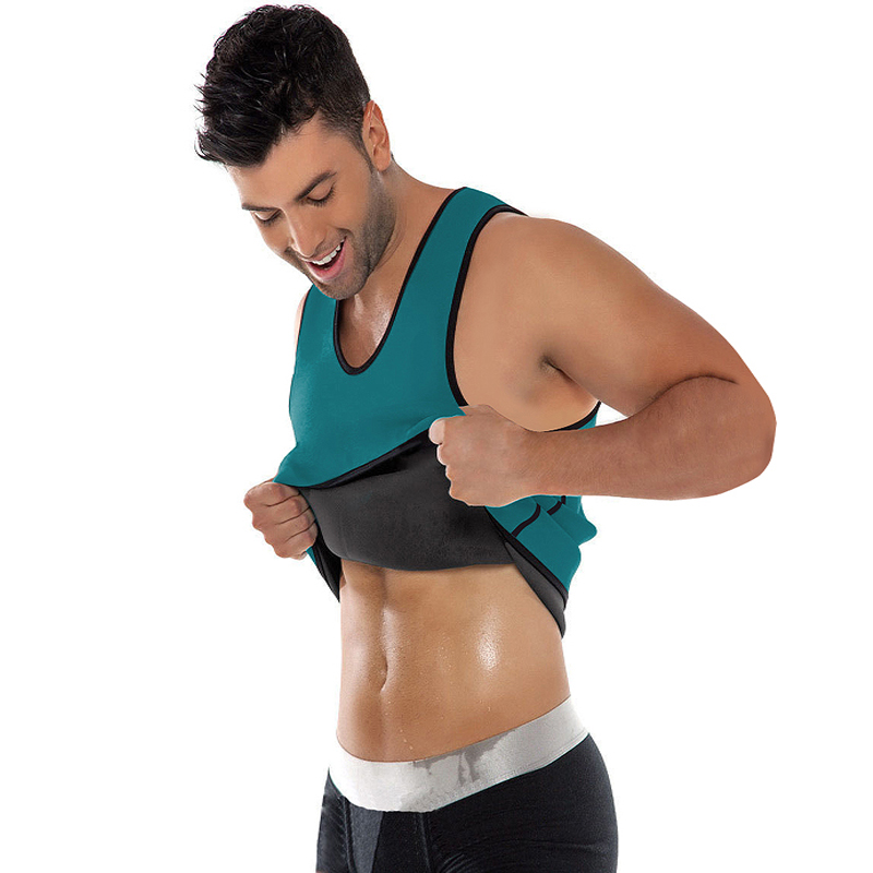 Neoprene Vest Men Speed Sweat Clothes Second Corset For Men Sbdomen Gynecomastia Slimming Belt Burning Men Tank Top Bodybuilding
