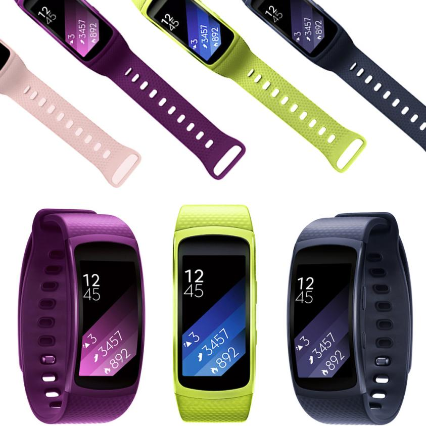 Splendid 2016 new arrival Luxury  Luxury Silicone Watch Replacement Band Strap For Samsung Gear Fit 2 SM-R360 Wristband