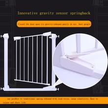 76-83 см Хорошее качество безопасности младенца ворота лестницы ворота пэт отдельную ворота сплошной цвет белый цвет утюг материал можете добавить expannel