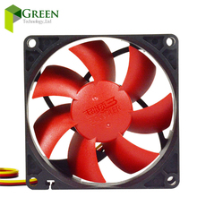 цена на New MINI DC12V Silent 80MM  8025 80*80*25MM 8*8*2.5CM  chassis fan  Hydraulic Bearing Computer case fan 3pin