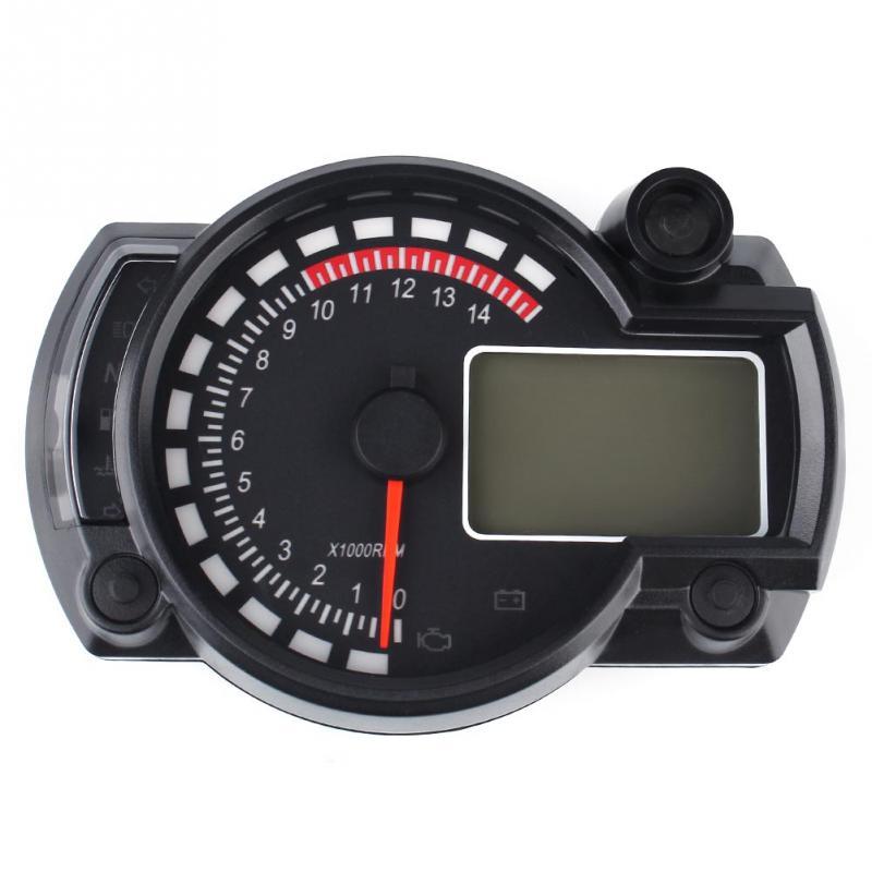 New Digital Motorcycle Speedometer Odometer Tachometer Lcd