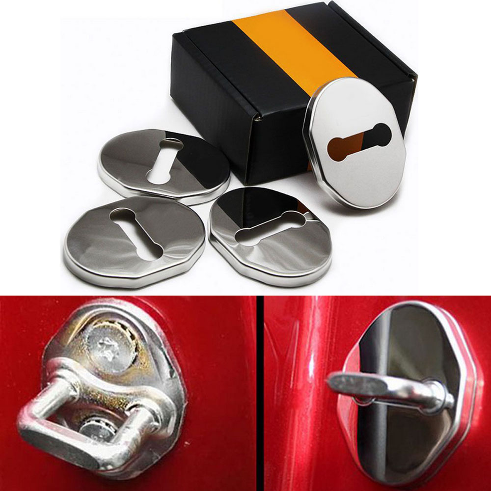4pcs Car Styling Door Lock Protective Cover Stopper Cap Sticker Accessories FOR Mazda M6 Axela ATENZA CHANGAN M2 Mazda Rui wing enlarge