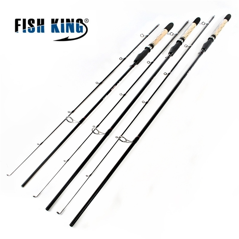 Fish King Lure Weight 5-25g Cheap Saltwater Fishing Spinning <font><b>Rod</b></font> <font><b>2</b></font>.4m <font><b>2</b></font>.7m <font><b>2</b></font> Section Ultra Light Carbon Fiber Body Fishing <font><b>Rod</b></font>